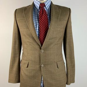 Hickey Freeman Madison Mens Blazer 42L Brown
